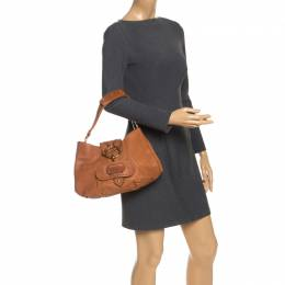 Tod's Brown Leather Shoulder Bag 253785