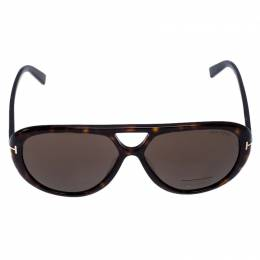 Tom Ford Brown Tortoise Marley Aviator Sunglasses