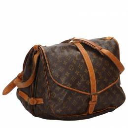 Louis Vuitton	 Monogram Canvas Saumur 35 Messenger Bag