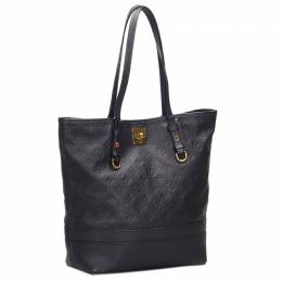 Louis Vuitton	 Black Monogram Empreinte Leather Citadine PM Bag