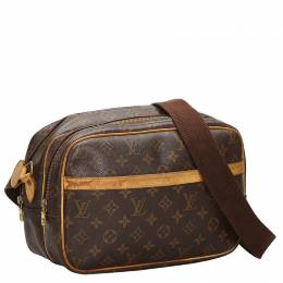 Louis Vuitton	 Monogram Canvas Reporter PM Bag