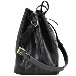 Louis Vuitton	 Noir Epi Leather Petit Noe Shoulder Bag
