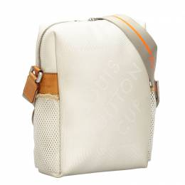 Louis Vuitton	 White Damier Geant Limited Edition LV Cup Weatherly Bag