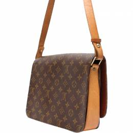 Louis Vuitton	 Monogram Canvas Cartouchiere Bag