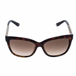 Jimmy Choo Brown Tortoise Gradient Cora Square Sunglasses 256190