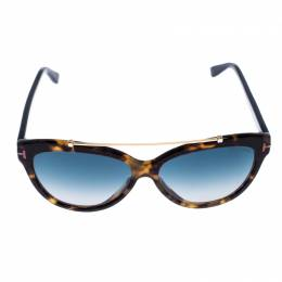 Tom Ford Brown Tortoise Gradient Livia Sunglasses 255914