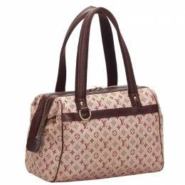 Louis Vuitton	 Brown/Red Monogram Mini Lin Josephine Shoulder PM Bag