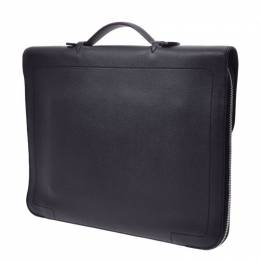 Hermes Black Leather Briefcase