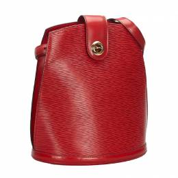 Louis Vuitton	 Red Epi Leather Cluny Bag