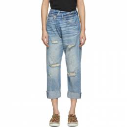 R13 Blue Cross-Over Jeans R13W2048-747