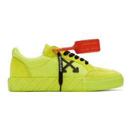 Off-White Yellow Vulcanized Low Sneakers OMIA085R20C210506210