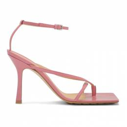 Bottega Veneta Pink Stretch Sandals 608835 VBSF0