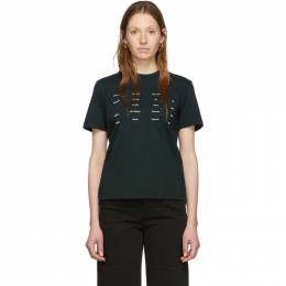 Proenza Schouler Black Proenza Schouler White Label Address Logo T-Shirt WL2014146