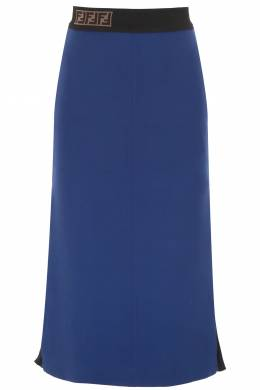 PENCIL SKIRT WITH PLEATED SIDE Fendi 191405DGN000006-F14PK