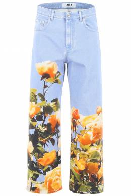 JEANS WITH FLORAL PRINT MSGM 191429DJE000003-84B