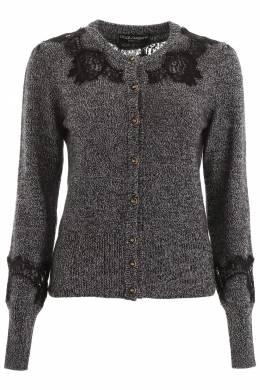 CARDIGAN WITH LACE INSERTS Dolce and Gabbana 192450DCD000002-S9000