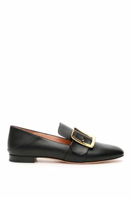 JANELLE LEATHER LOAFERS Bally 202468NMO000002-BLACK