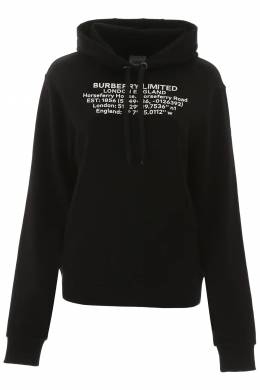 POULTER HOODIE WITH COORDINATES Burberry 201481DFE000002-A1189