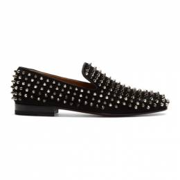 Christian Louboutin Black Suede Dandelion Spikes Loafers 1120153