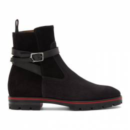 Christian Louboutin Black Suede Kicko Boots 3191318