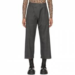 R13 Grey Check Crossover Trousers R13W7321-24C