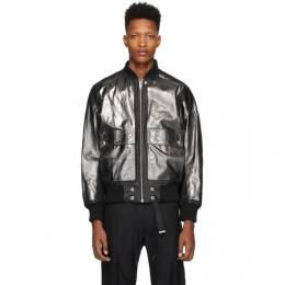 Diesel Black Leather L-Steward-Foil Jacket 00S3AQ 0AAXL