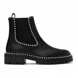 Alexander Wang Black Leather Spencer Boots 3027B0013L