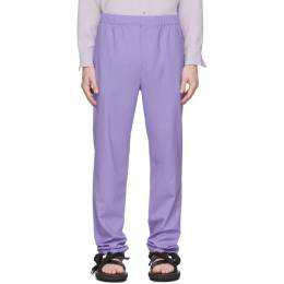 Tibi SSENSE Exclusive Purple Eamon Pull-On Trousers R219EA3168