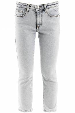 CROPPED JEANS WITH LOGO ON BACK MSGM 201429DJE000002-88