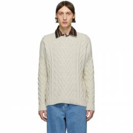 Loewe Off-White Cable Knit Sweater H3109630VO