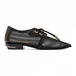 Toga Pulla Black Mesh Lace-Up Loafers FTGPW101209037