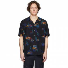PS by Paul Smith Black Lyocell Cosmic Camp Shirt M2R-832T-A20785