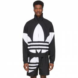 Adidas Originals Black Big Trefoil Track Jacket FM9892