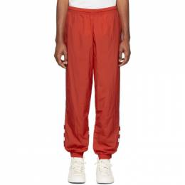 Adidas Originals Red Big Trefoil Track Pants FM9898