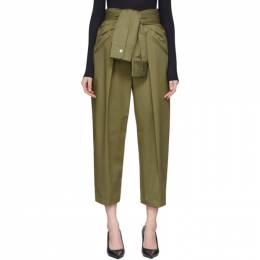 Alexander Wang Khaki Tied Waist Trousers 1WC1204209
