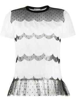 Red Valentino lace panels short-sleeved T-shirt TR3MG05G4VG