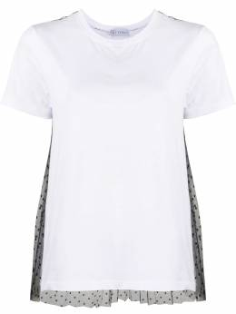 Red Valentino lace embellished short-sleeved T-shirt TR3MG04Q4WV