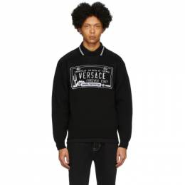 Versace Black License Plate Sweatshirt A85886 A233610