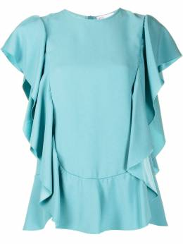 Red Valentino ruffled short-sleeve blouse TR3AAB050F1