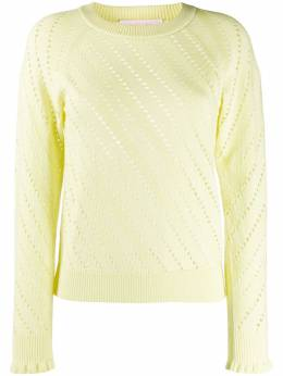 See by Chloe perforated crew-neck jumper CHS20SMP13580