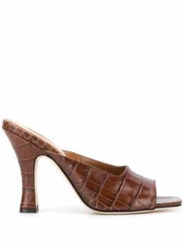 Paris Texas crocodile embossed mules PX207XCAG2