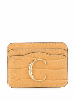 Chloe	 debossed card holder CHC19UP085A87