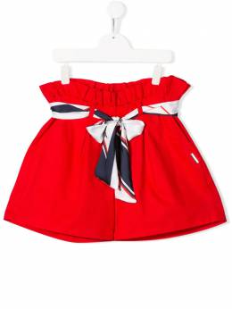 MSGM Kids TEEN ribbon-tie shorts 022220