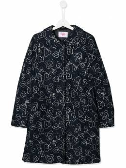 Il Gufo TEEN embroidered floral coat A19GP212W5013