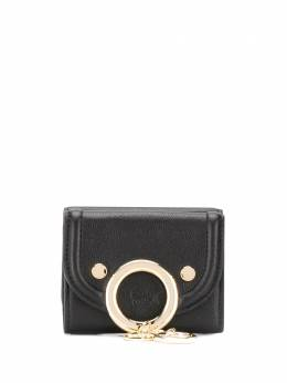 See by Chloe small Aura ring-embellished wallet CHS20SP899388