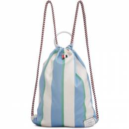 Thom Browne Tricolor Stripe Drawcord Backpack MAG160A-05373