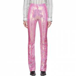 Paco Rabanne	 Pink Sequin Trousers 19HCPA054PO0231