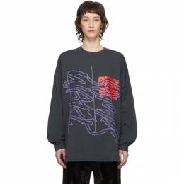 Grey New Logo New Body Long Sleeve T-Shirt Some Ware SW089