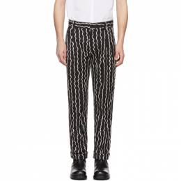 Black Woven Squiggle Trousers Charles Jeffrey Loverboy CJLSS20SFT