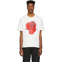 SSENSE Exclusive White Red Rose Razor T-Shirt Stolen Girlfriends Club C4-19T001DI